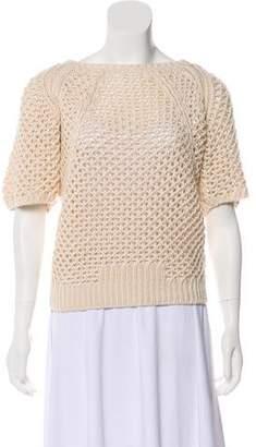 M.PATMOS Short Sleeve Heavy Knit Top