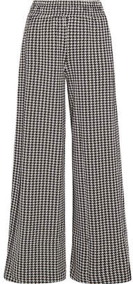 By Malene Birger Belliz Houndstooth Knitted Wide-leg Pants - Black