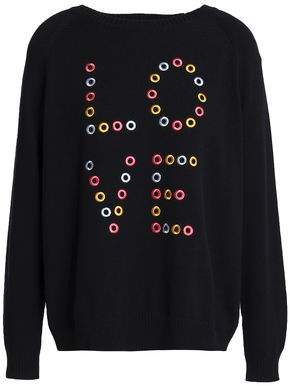 Chinti and Parker Eyelet-Embellished Cotton Sweater