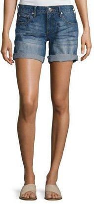 True Religion Emma Cuffed Bermuda Shorts, Blue Fest (Indigo) $159 thestylecure.com