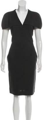 Akris Wool Zip-Up Dress Grey Wool Zip-Up Dress
