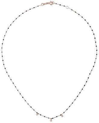 Gigi Clozeau black RG bead diamond and rose gold necklace
