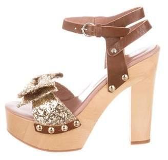 70e8871fbec Red Glitter Platform Heels - ShopStyle