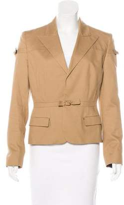 Jean Paul Gaultier Peak-Lapel Long Sleeve Blazer