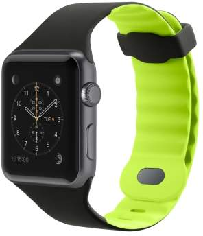 Belkin 42mm Sport Band for Apple Watch, Blacktop/Flash