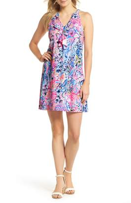 Lilly Pulitzer R) Shay Ruffle Halter Neck Shift Dress