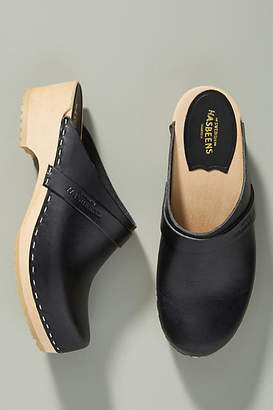 Swedish Hasbeens Leather Clogs