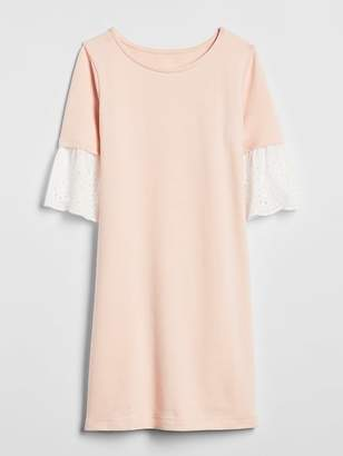 Gap Eyelet Ruffle T-Shirt Dress