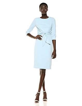 Adrianna Papell Women's Bow Sheath Dress with Three Quarter Sleeves