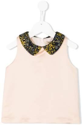 Hucklebones London contrast collar blouse
