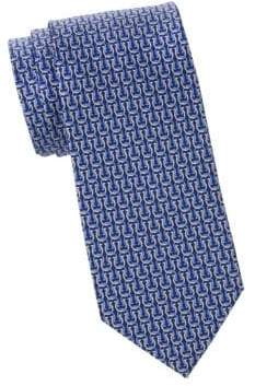Salvatore Ferragamo Linked Gancini Silk Tie