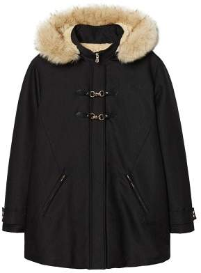 Violeta BY MANGO Faux shearling-lined parka