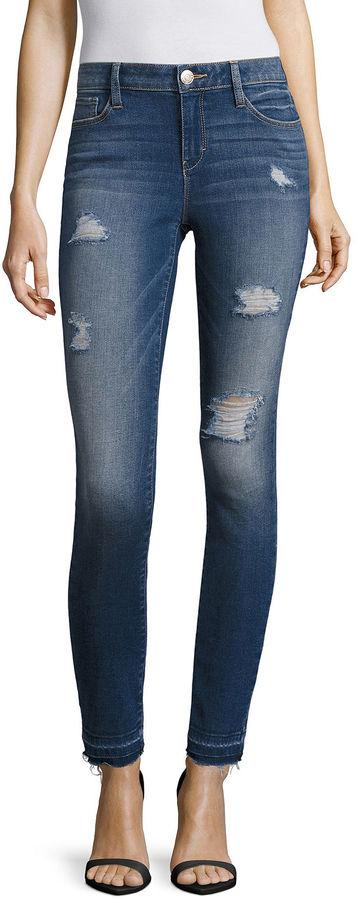 BELLE + SKY Destructed Skinny Jeans