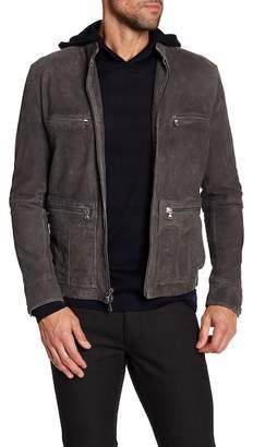 John Varvatos Collection Military Field Racer Jacket