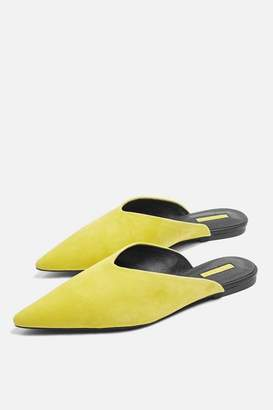 Yellow kilo pointed mules