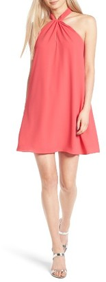 Women's Soprano Knotted High Neck Shift Dress $48 thestylecure.com