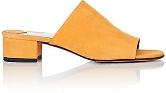 Barneys New York Women's Square-Toe Suede Mules - Yellow