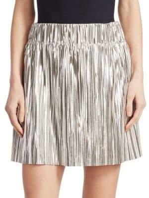 Etoile Isabel Marant Women's Delpha Metallic Mini Skirt - Silver - Size 40 (8)
