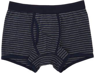 Sunspel Grey and Navy Superfine Trunk Boxer Briefs