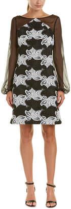 Kay Unger Silk-Trim Sheath Dress