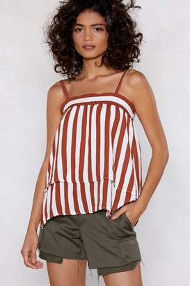 Nasty Gal Hit 'Em With a Double Cami Striped Top