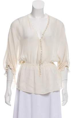 Elizabeth and James Three-Quarter Sleeve Blouse
