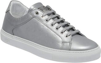 MCM Men's Low Top Sneakers In Monogrammed Leather