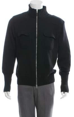 Gran Sasso Wool Zip-Up Sweater black Wool Zip-Up Sweater