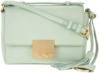 Isaac Mizrahi Live! Whitney Pebble Leather Crossbody Handbag