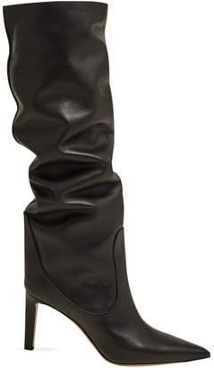 82b93e861f6c Jimmy Choo Mavis 85 Knee High Leather Boots - Womens - Black