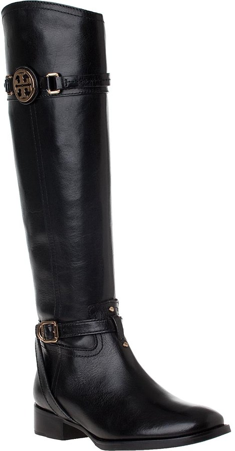 Tory Burch Calista Riding Boot Almond Leather