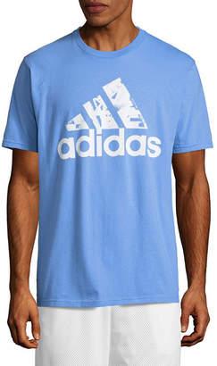 adidas Short Sleeve Crew Neck T-Shirt-Athletic