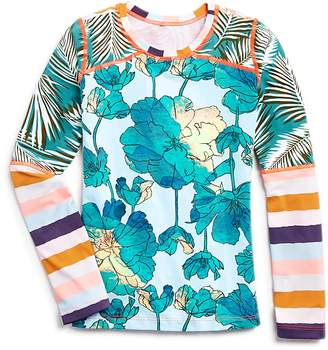 Maaji Girls' Aquarelle River Rash Guard - Big Kid