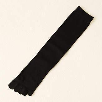 靴下屋 うるおいキープ無地五本指ハイソックス24〜26cm
