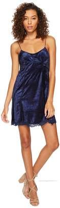 Free People Cheeky Velvet Mini Dress Women's Dress