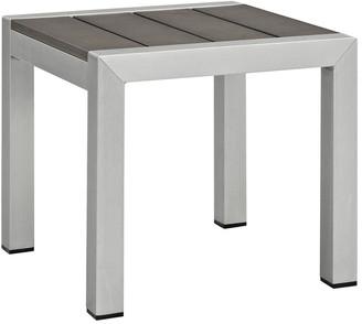 Modway Outdoor Shore Outdoor Patio Aluminum Side Table