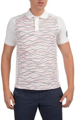 Moncler Gamme Bleu Multi-Color Geometric Print Polo Casual Shirt