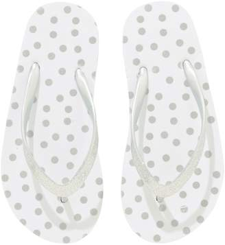 Next Girls White Spot Flip Flops (Older)