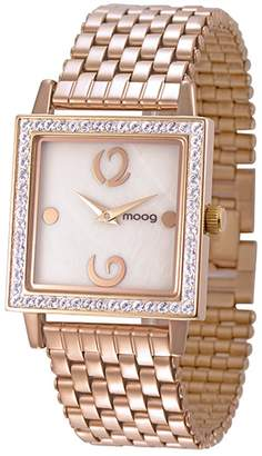 Mother of Pearl Moog Paris Twisted Women's Watch with Dial, Rose Gold Stainless Steel Strap & Swarovski Elements - M45604-007