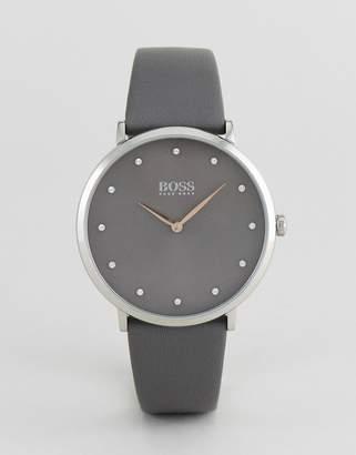 BOSS 1502413 Jillian Leather Watch In Gray