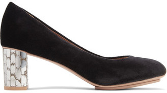 See by Chloé - Velvet Pumps - Black $320 thestylecure.com