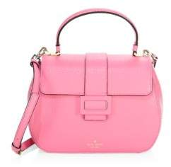 Kate Spade Carlyle Street Justina Leather Satchel - PINK - STYLE