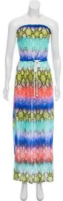 Milly Semi-Sheer Maxi Dress