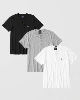 Abercrombie & Fitch 3-Pack Icon Henley