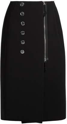 Altuzarra Sorrel button-embellished cady pencil skirt