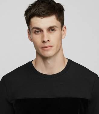 Reiss Arty Textural Stripe Sweatshirt