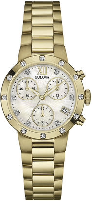 Bulova Gold-Tone Mother-of-Pearl Dress Watch 98R216 $412.50 thestylecure.com