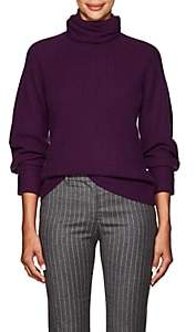 Altuzarra Women's Arrow Rib-Knit Cashmere Turtleneck Sweater - Purple