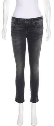 R 13 Mid-Rise Straight-Leg Jeans