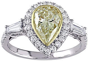 Affinity Diamond Jewelry Pear Shaped Yellow Diamond Ring, 14K, 2.00 cttw